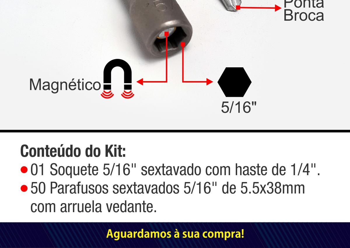 Kit de parafusos com soquete